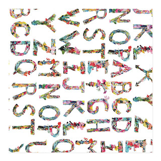 Alphabet collage wrapping paper Self-Launch Wrapping Paper