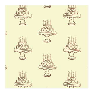 Faux Foil Cake Self-Launch Wrapping Paper