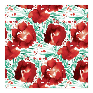 Watery Blooms Self-Launch Wrapping Paper