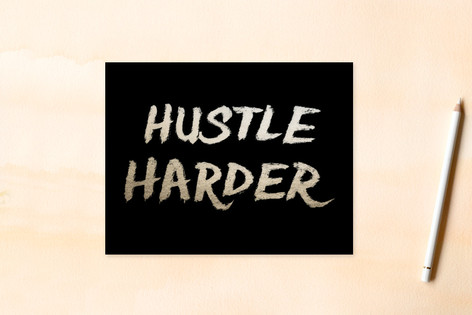 hustle harder Women's Flat Stationery
