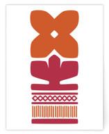 orange nordic flower a2 card