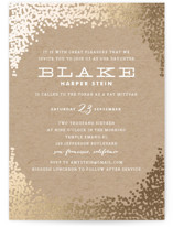 Gold Rush Foil-Pressed Mitzvah Invitations