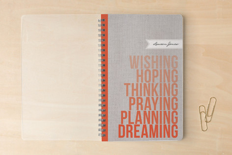 Wishing. Hoping. Dreaming. Notebooks