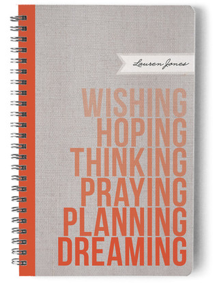 Wishing. Hoping. Dreaming. Day Planner, Notebook, or Address Book
