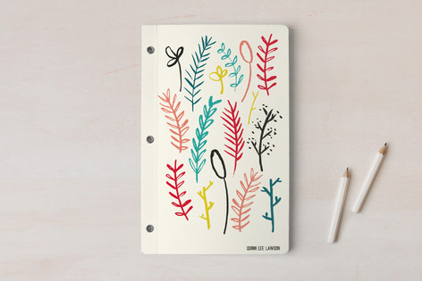 Brush Floral Notebooks