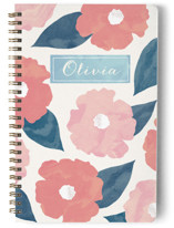 This is a pink journal by Hooray Creative called Fresh Florals with standard printing on premium cover stock in notebook.
