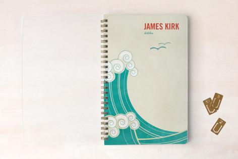 BLOCK PRINT WAVES Notebooks