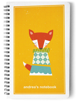 Foxy Day Planner, Notebook, or Address Book