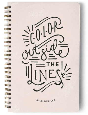 Outside The Lines Day Planner, Notebook, Or Address Book