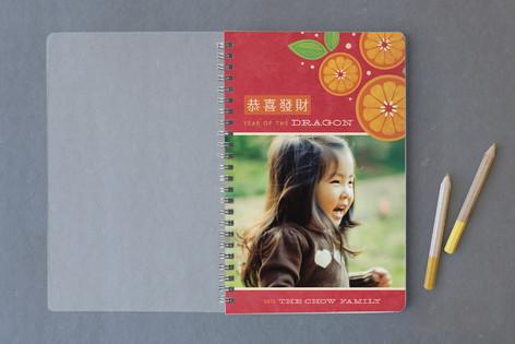 Tangerine Spray Notebooks
