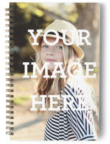 This is a white journal by Minted called The Big Picture with standard printing on premium cover stock in notebook.