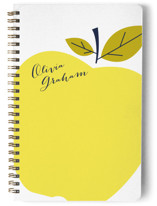 This is a yellow journal by Oscar & Emma called Big Apple with standard printing on premium cover stock in notebook.