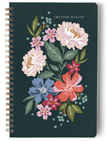 This is a green journal by Alethea and Ruth called Gathered Bouquet with standard printing on premium cover stock in notebook.