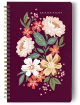This is a purple journal by Alethea and Ruth called Gathered Bouquet with standard printing on premium cover stock in notebook.