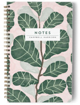 This is a pink journal by iamtanya called Hello Fiddle Leaf Fig with standard printing on premium cover stock in notebook.