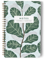 This is a blue journal by iamtanya called Hello Fiddle Leaf Fig with standard printing on premium cover stock in notebook.