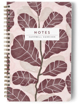 This is a purple journal by iamtanya called Hello Fiddle Leaf Fig with standard printing on premium cover stock in notebook.