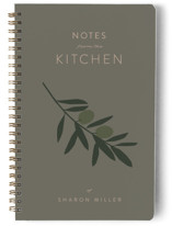 This is a beige journal by Owl and Toad called Olive Branch Notes with standard printing on premium cover stock in notebook.