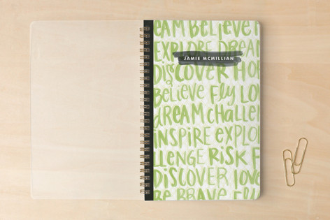 Grad Watercolor Words Notebooks