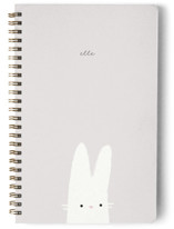 This is a green journal by Lori Wemple called Bunny with standard printing on premium cover stock in notebook.