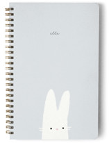 This is a blue journal by Lori Wemple called Bunny with standard printing on premium cover stock in notebook.