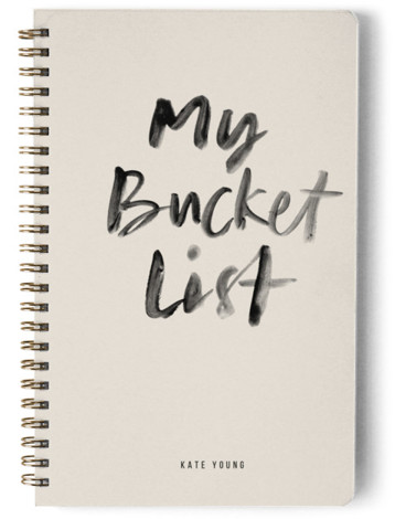 My Bucket List Day Planner, Notebook, Or Address Book