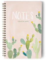 This is a pink journal by Erika Firm called Prickly Pear Cactus Garden with standard printing on premium cover stock in notebook.