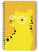 This is a orange journal by Lori Wemple called Cheetah with standard printing on premium cover stock in notebook.