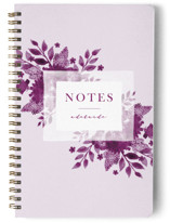 This is a purple journal by JeAnna Casper called Blue with standard printing on premium cover stock in notebook.
