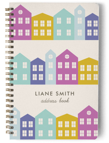 Little Houses Day Planner, Notebook, Or Address Book