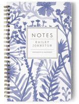 This is a blue journal by cambria called Wildflowers with standard printing on premium cover stock in notebook.