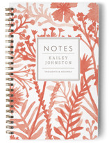 This is a red journal by cambria called Wildflowers with standard printing on premium cover stock in notebook.