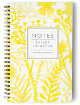 This is a yellow journal by cambria called Wildflowers with standard printing on premium cover stock in notebook.