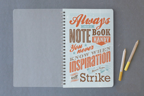 Typography Inspirations Notebooks