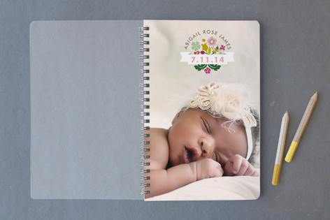 Newborn Photo Seal Notebooks