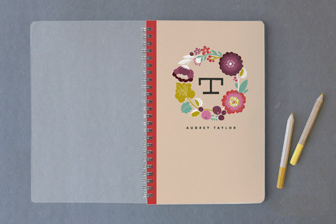 Punchy Wreath Notebooks