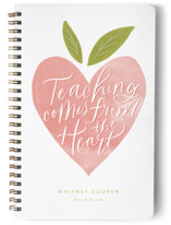 This is a pink journal by Jackie Crawford called From the Heart with standard printing on premium cover stock in notebook.