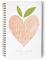 This is a orange journal by Jackie Crawford called From the Heart with standard printing on premium cover stock in notebook.