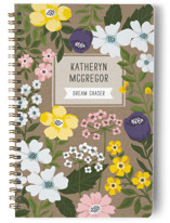 This is a purple journal by Sharon O. called The Secret Garden with standard printing on premium cover stock in notebook.