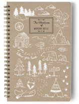 This is a white journal by Sharon O. called A Little Adventure with standard printing on premium cover stock in notebook.