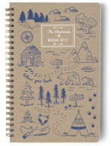 This is a blue journal by Sharon O. called A Little Adventure with standard printing on premium cover stock in notebook.