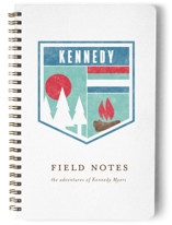 This is a blue journal by Fig and Cotton called Field Notes with standard printing on premium cover stock in notebook.