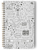 This is a black journal by Jen Owens called Etchy Sketchy with standard printing on premium cover stock in notebook.