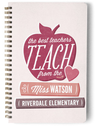 Teach From The Heart. Day Planner, Notebook, Or Address Book