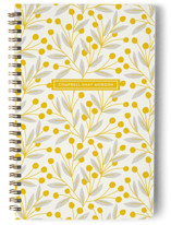 This is a yellow journal by Laura Hankins called Berry And Vine with standard printing on premium cover stock in notebook.