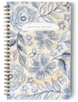 This is a blue journal by Alethea and Ruth called Watercolor Wash Floral No. 2 with standard printing on premium cover stock in notebook.