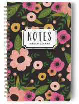 This is a black journal by August and Oak called Painted Flowers with standard printing on premium cover stock in notebook.