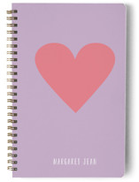 This is a purple journal by Minted called My Heart with standard printing on premium cover stock in notebook.