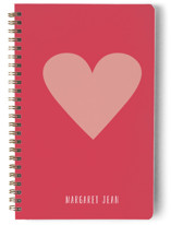 This is a red journal by Minted called My Heart with standard printing on premium cover stock in notebook.