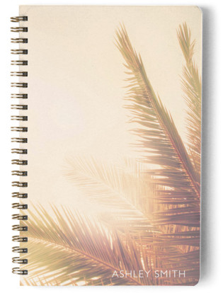 Golden Palm Tree Day Planner, Notebook, or Address Book